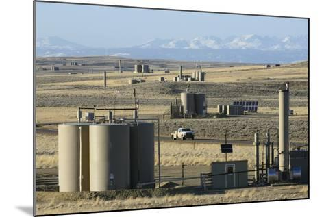 Jonah Natural Gas Field South of Pinedale, Wyoming-Gerrit Vyn-Mounted Photographic Print