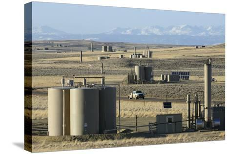 Jonah Natural Gas Field South of Pinedale, Wyoming-Gerrit Vyn-Stretched Canvas Print
