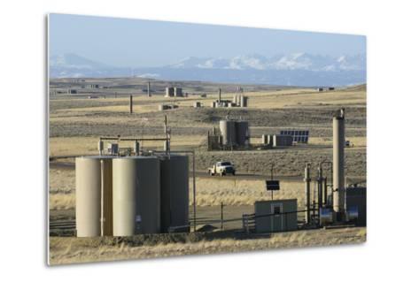 Jonah Natural Gas Field South of Pinedale, Wyoming-Gerrit Vyn-Metal Print