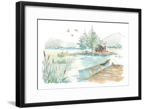 Lakehouse II on White-Anne Tavoletti-Framed Art Print