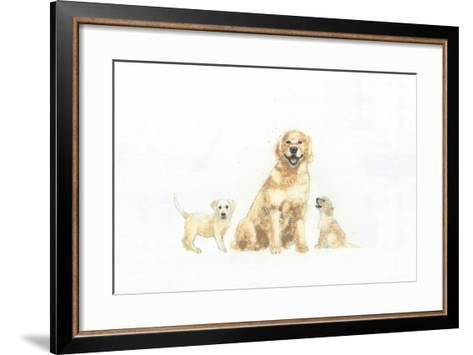 Dog and Puppies-Emily Adams-Framed Art Print