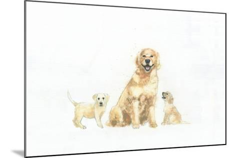 Dog and Puppies-Emily Adams-Mounted Art Print