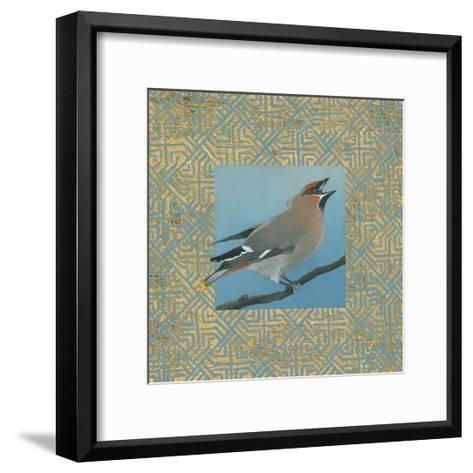 Cedar Waxwing Border-Kathrine Lovell-Framed Art Print