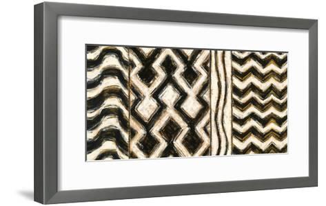 Black and Gold Geometric VII-Shirley Novak-Framed Art Print