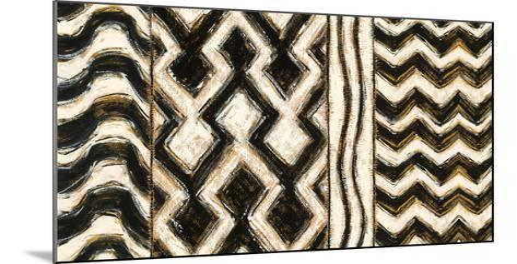 Black and Gold Geometric VII-Shirley Novak-Mounted Art Print