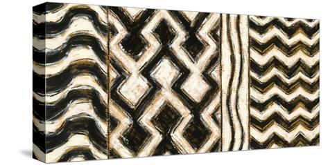 Black and Gold Geometric VII-Shirley Novak-Stretched Canvas Print