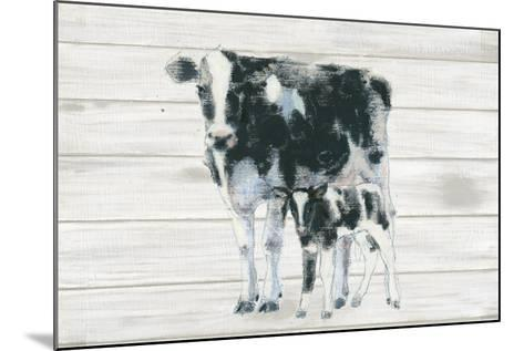 Cow and Calf on Wood-Emily Adams-Mounted Art Print