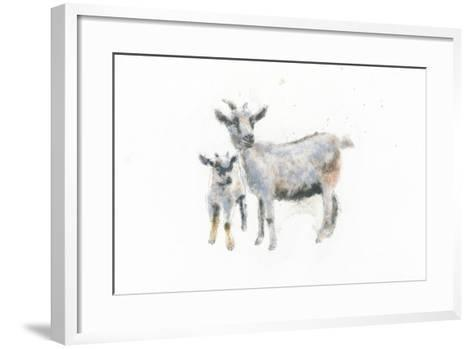 Goat and Kid-Emily Adams-Framed Art Print