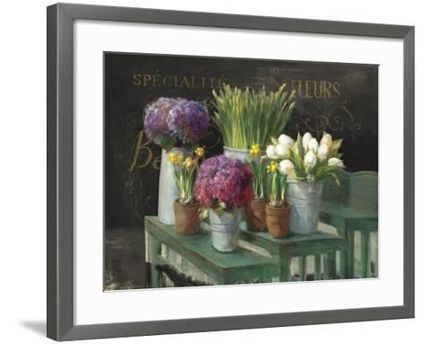 Les Fleurs Printemps on Black-Danhui Nai-Framed Art Print