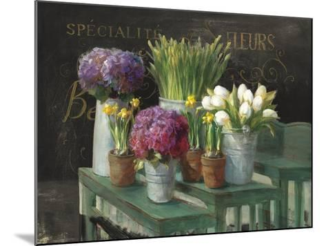 Les Fleurs Printemps on Black-Danhui Nai-Mounted Art Print