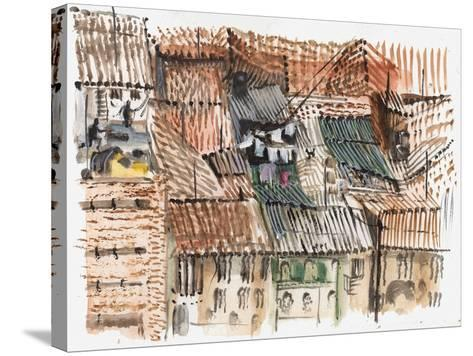 Rooftops, Bogota-Mary Kuper-Stretched Canvas Print