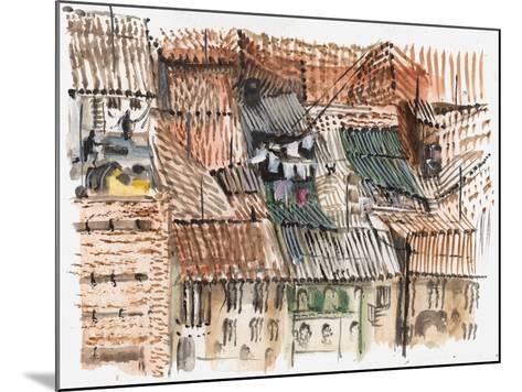 Rooftops, Bogota-Mary Kuper-Mounted Giclee Print