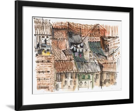 Rooftops, Bogota-Mary Kuper-Framed Art Print