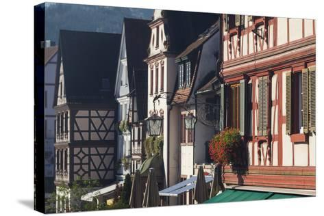 Germany, Baden-Wurttemburg, Black Forest, Gengenbach, Town Buildings-Walter Bibikow-Stretched Canvas Print
