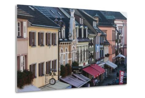 Germany, Baden-Wurttemburg, Black Forest, Gengenbach, Town Buildings-Walter Bibikow-Metal Print