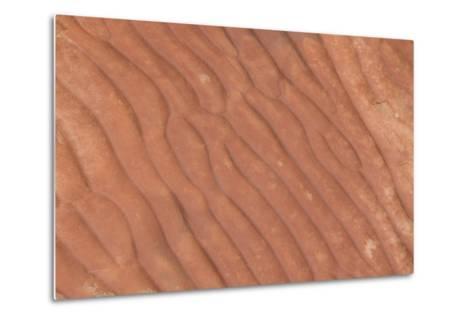 Australia, Watarrka National Park. Kings Canyon, Rim Walk. Detail of Carved Stone Sea Ripples-Cindy Miller Hopkins-Metal Print