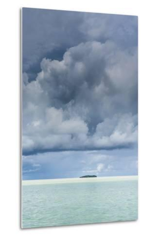 Dramatic Sky over a Little Island in the Rock Islands, Palau, Central Pacific-Michael Runkel-Metal Print