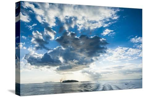 Dramatic Clouds at Sunset over the Mamanucas Islands, Fiji, South Pacific-Michael Runkel-Stretched Canvas Print
