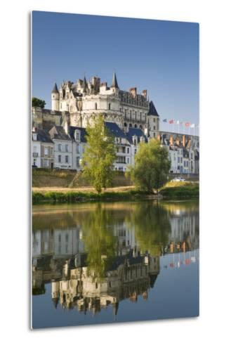 Early Morning Below Chateau D'Amboise, Amboise, Indre-Et-Loire, Centre, France-Brian Jannsen-Metal Print