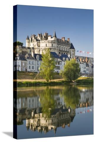 Early Morning Below Chateau D'Amboise, Amboise, Indre-Et-Loire, Centre, France-Brian Jannsen-Stretched Canvas Print