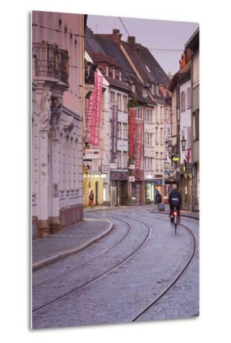 Baden-Wurttemburg, Black Forest, Old Town, Salzstrasse at Dawn-Walter Bibikow-Metal Print