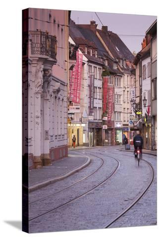 Baden-Wurttemburg, Black Forest, Old Town, Salzstrasse at Dawn-Walter Bibikow-Stretched Canvas Print