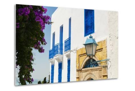 Balcony and Window, Sidi Bou Said, Tunisia, North Africa-Nico Tondini-Metal Print