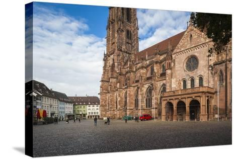 Baden-Wurttemburg, Black Forest, Old Town, 11th Century Munster Cathedral-Walter Bibikow-Stretched Canvas Print