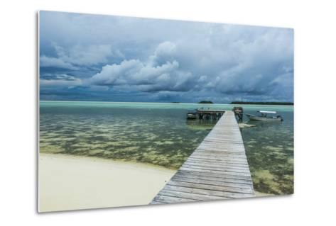 Boat Pier on Carp Island, One of the Rock Islands, Palau, Central Pacific-Michael Runkel-Metal Print