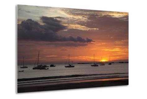 Central America, Nicaragua. Sunset at San Juan Del Sur Harbor-Kymri Wilt-Metal Print