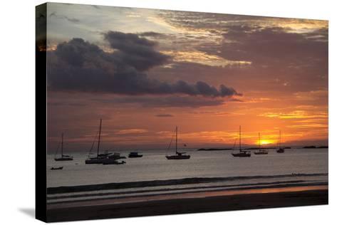 Central America, Nicaragua. Sunset at San Juan Del Sur Harbor-Kymri Wilt-Stretched Canvas Print