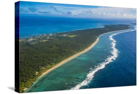 Aerial of Ha'Apai, Tonga, South Pacific-Michael Runkel-Stretched Canvas Print