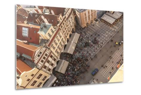 Aerial of Old Town Square. Prague, Czech Republic-Tom Norring-Metal Print