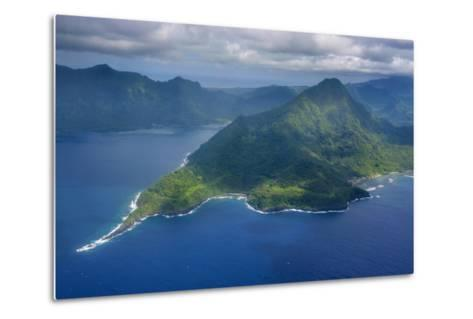 Aerial of the Island of Upolu, Samoa, South Pacific-Michael Runkel-Metal Print