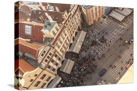 Aerial of Old Town Square. Prague, Czech Republic-Tom Norring-Stretched Canvas Print
