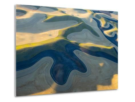 Aerial Photography at Harvest Time in the Palouse Region of Eastern Washington-Julie Eggers-Metal Print