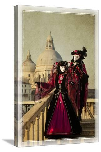 Elaborate Costume for Carnival, Venice, Italy-Darrell Gulin-Stretched Canvas Print