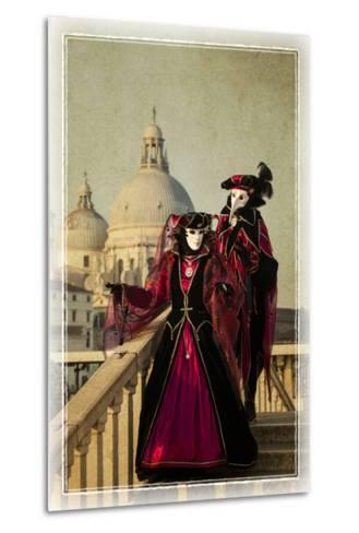 Elaborate Costume for Carnival, Venice, Italy-Darrell Gulin-Metal Print