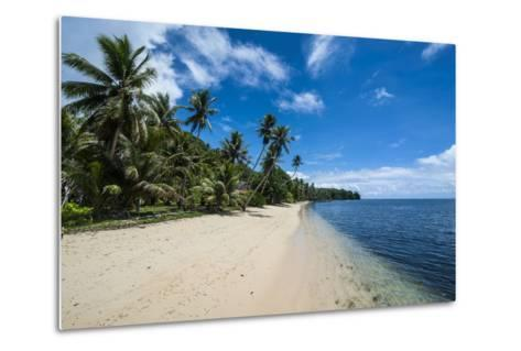 Beautiful White Sand Beach and Palm Trees on the Island of Yap, Micronesia-Michael Runkel-Metal Print