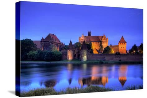 Europe, Poland, Malbork. Medieval Malbork Castle-Jaynes Gallery-Stretched Canvas Print