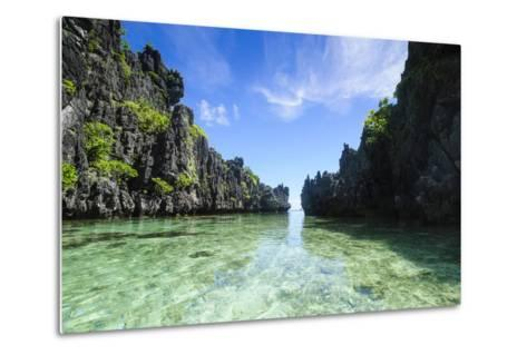 Crystal Clear Water in the Bacuit Archipelago, Palawan, Philippines-Michael Runkel-Metal Print