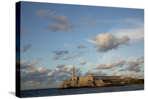 Cuba, Havana, El Morro Fortress and Sea, Viewed from Malecon-John and Lisa Merrill-Stretched Canvas Print