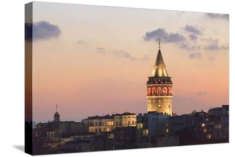 Galata Tower. Istanbul. Turkey-Tom Norring-Stretched Canvas Print