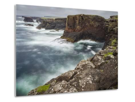 Famous Cliffs and Sea Stacks of Esha Ness, Shetland Islands-Martin Zwick-Metal Print