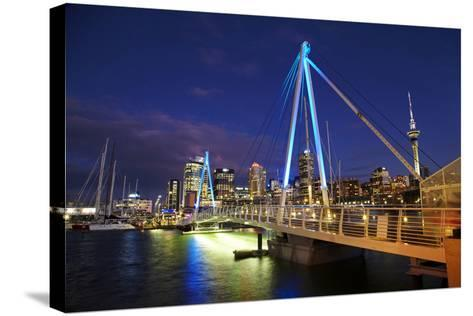 Auckland Waterfront, North Island, New Zealand-David Wall-Stretched Canvas Print