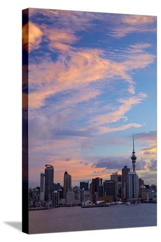 Auckland Cbd, Skytower, and Waitemata Harbour, North Island, New Zealand-David Wall-Stretched Canvas Print