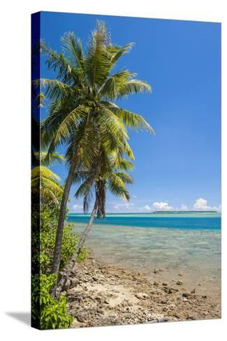 Coast around Merizo and its Coral Reef, Guam, Us Territory, Central Pacific-Michael Runkel-Stretched Canvas Print