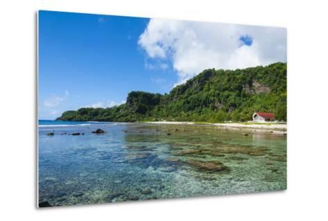 Bay and Turquoise Water in Tau Island, Manu'A, American Samoa, South Pacific-Michael Runkel-Metal Print
