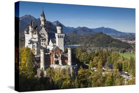 Germany, Bavaria, Hohenschwangau, Elevated View of a Castle in the Fall-Walter Bibikow-Stretched Canvas Print