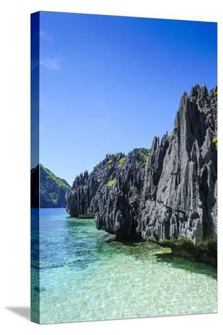 Clear Water in the Bacuit Archipelago, Palawan, Philippines-Michael Runkel-Stretched Canvas Print